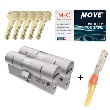 M&C Move SKG3 - 2 cilinders met 5 sleutels