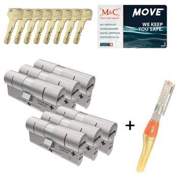 M&C Move SKG3 - 6 cilinders met 8 sleutels