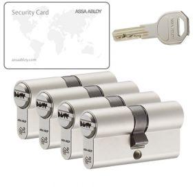 Assa Abloy K100 SKG2 - 4 cilinders met 12 sleutels