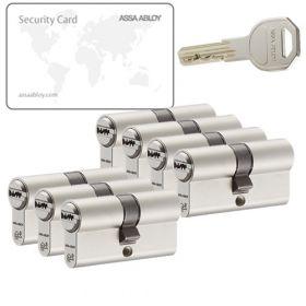 Assa Abloy K100 SKG2 - 7 cilinders met 21 sleutels