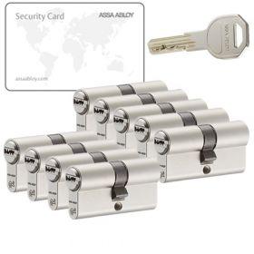 Assa Abloy K100 SKG2 - 9 cilinders met 27 sleutels