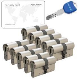 Assa Abloy K800 SKG3 - 10 cilinders met 30 sleutels