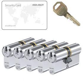 Assa Abloy C310 SKG3 - 5 cilinders met 15 sleutels