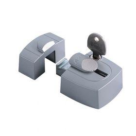 AXA 3015 Oplegslot gelijkliggend zilver SKG1