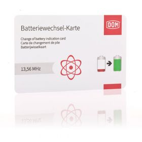 DOM ENIQ Pro Batterijvervangingskaart
