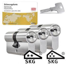 Dom IX Teco SKG2 - 3 cilinders met 9 sleutels