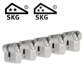 Dom Plura SKG2 - 5 cilinders met 15 sleutels