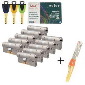 M&C Color+ SKG3 - 10 cilinders met 8 sleutels