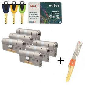 M&C Color+ SKG3 - 6 cilinders met 8 sleutels