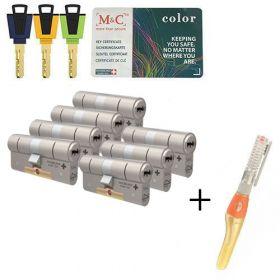 M&C Color+ SKG3 - 7 cilinders met 8 sleutels