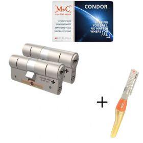 M&C Condor SKG3 - 2 cilinders met 5 sleutels