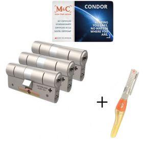 M&C Condor SKG3 - 3 cilinders met 5 sleutels