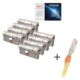 M&C Condor SKG3 - 8 cilinders met 8 sleutels