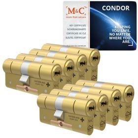 M&C Condor SKG3 messing - 8 cilinders met 8 sleutels