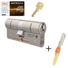 M&C Matrix M2 SKG2 - 1 cilinder met 3 sleutels