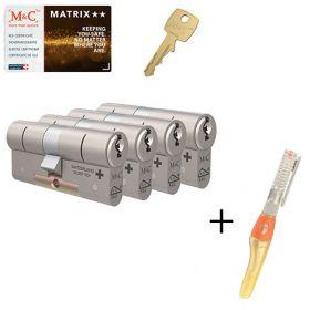 M&C Matrix M2 SKG2 - 4 cilinders met 7 sleutels