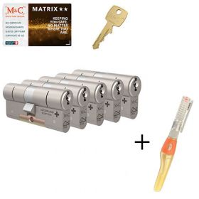 M&C Matrix M2 SKG2 - 5 cilinders met 7 sleutels