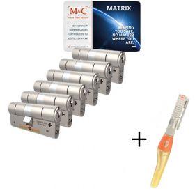 M&C Matrix SKG3 - 6 cilinders met 8 sleutels