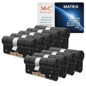M&C Matrix SKG3 zwart - 9 cilinders met 8 sleutels