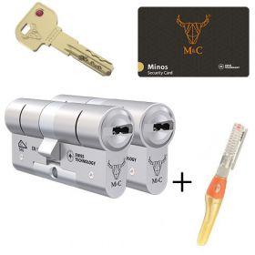 M&C Minos SKG3 - 2 cilinders met 5 sleutels