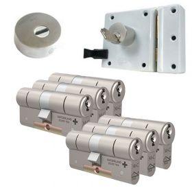 M&C oplegslot wit met Kerntrekrozet + 6x M&C Matrix cilinder