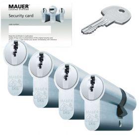Mauer DT1 SKG3 - 4 cilinders met 12 sleutels