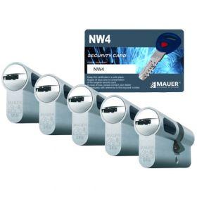 Mauer New Wave 4 SKG3 - 5 cilinders met 15 sleutels