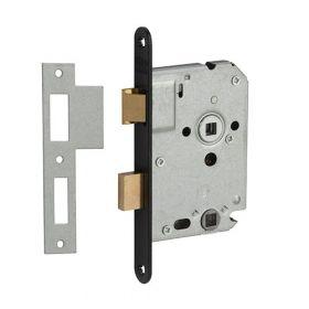 Nemef 1264/3 zwart WC slot afgerond PC63/8 doornmaat 50 mm