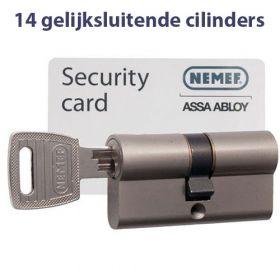 Nemef NF3 SKG3 - 14 cilinders met 42 sleutels