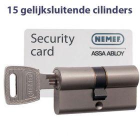 Nemef NF3 SKG3 - 15 cilinders met 45 sleutels