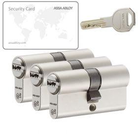 Assa Abloy K100 SKG2 - 3 cilinders met 9 sleutels