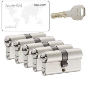 Assa Abloy K100 SKG2 - 5 cilinders met 15 sleutels