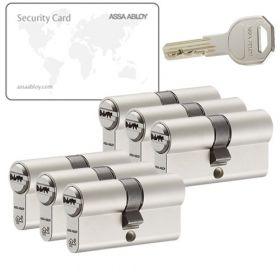 Assa Abloy K100 SKG2 - 6 cilinders met 18 sleutels