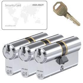 Assa Abloy C310 SKG3 - 3 cilinders met 9 sleutels