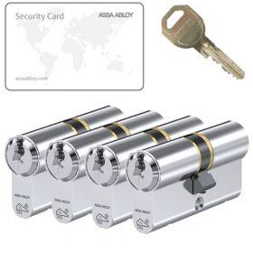 Assa Abloy C310 SKG3 - 4 cilinders met 12 sleutels
