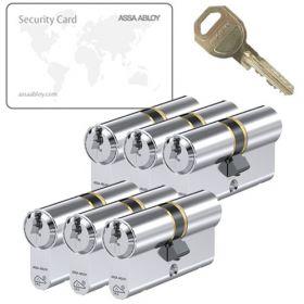 Assa Abloy C310 SKG3 - 6 cilinders met 18 sleutels