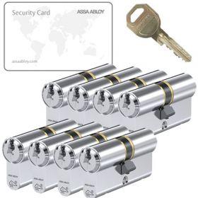 Assa Abloy C310 SKG3 - 8 cilinders met 24 sleutels