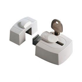AXA 3015 Oplegslot gelijkliggend Wit SKG1