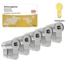 Dom Diamant SKG3 messing - 5 cilinders met 15 sleutels
