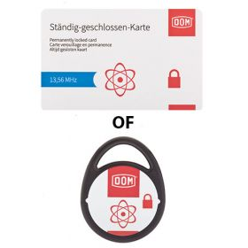 DOM ENIQ Pro permanent gesloten kaart of tag