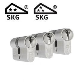 Dom Plura SKG2 - 3 cilinders met 9 sleutels