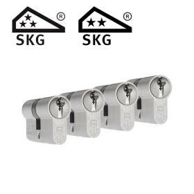 Dom Plura SKG3 - 4 cilinders met 12 sleutels