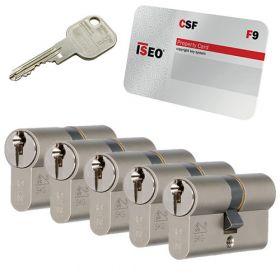 Iseo F9 SKG3 - 5 cilinders met 6 sleutels