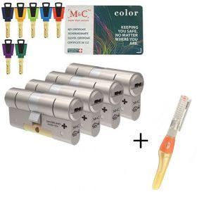 M&C Color+ SKG3 - 4 cilinders met 7 sleutels