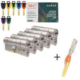 M&C Color+ SKG3 - 5 cilinders met 7 sleutels