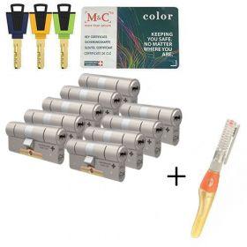 M&C Color+ SKG3 - 9 cilinders met 8 sleutels
