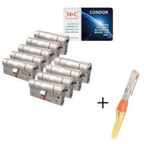 M&C Condor SKG3 - 9 cilinders met 8 sleutels