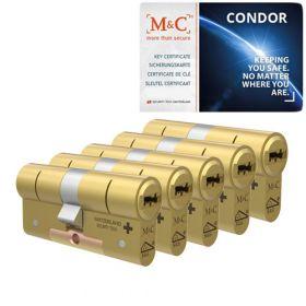 M&C Condor SKG3 messing - 5 cilinders met 7 sleutels