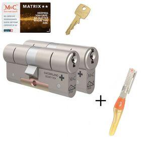 M&C Matrix M2 SKG2 - 2 cilinders met 5 sleutels