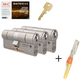 M&C Matrix M2 SKG2 - 3 cilinders met 5 sleutels